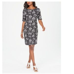 NWT Karen Scott Printed Boat-Neck Dress NEW XL